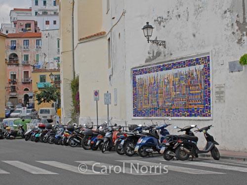 European-Amalfi-coast-Italy-mopeds
