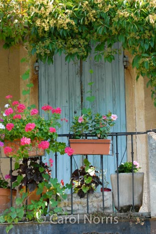 Provence-France-old-painted-doors-balcony