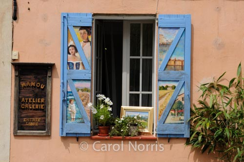 Provence-France-painted-shutters