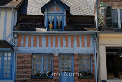 blue-doors-windows-stone-houses-normandy